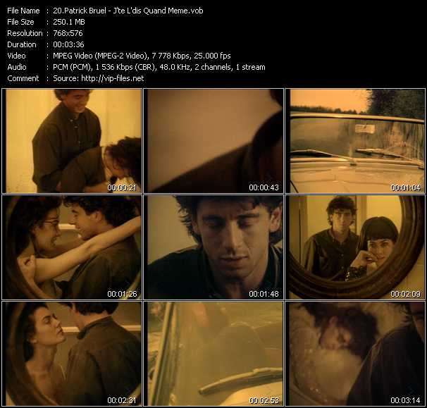 Patrick Bruel video screenshot