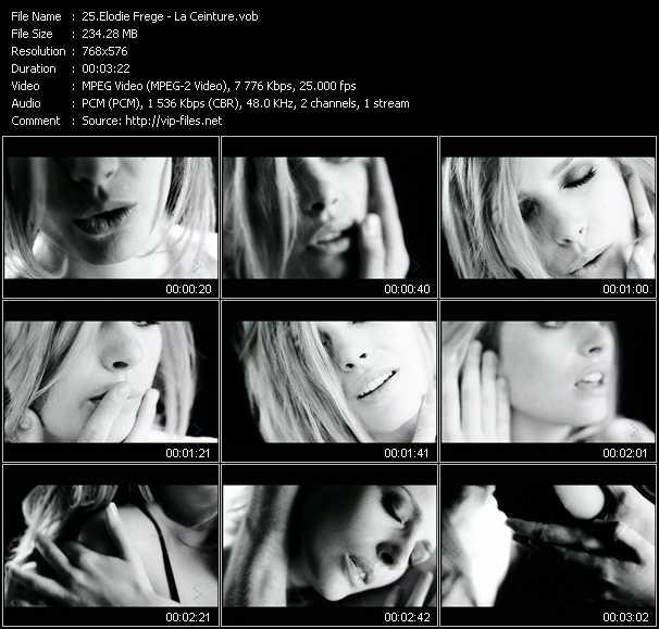 Elodie Frege video screenshot