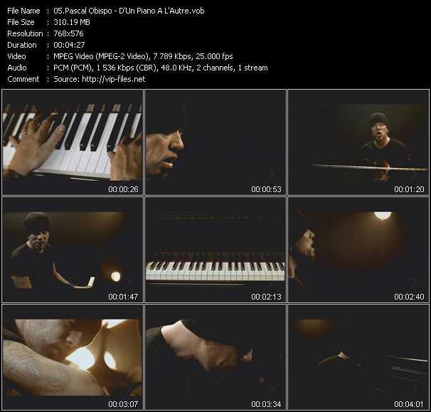 Pascal Obispo video screenshot