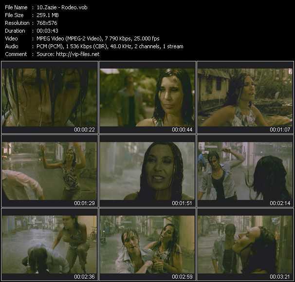Zazie video screenshot