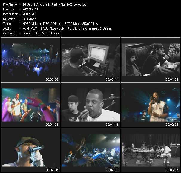 video Numb - Encore screen