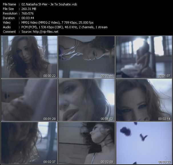 Natasha St-Pier video screenshot