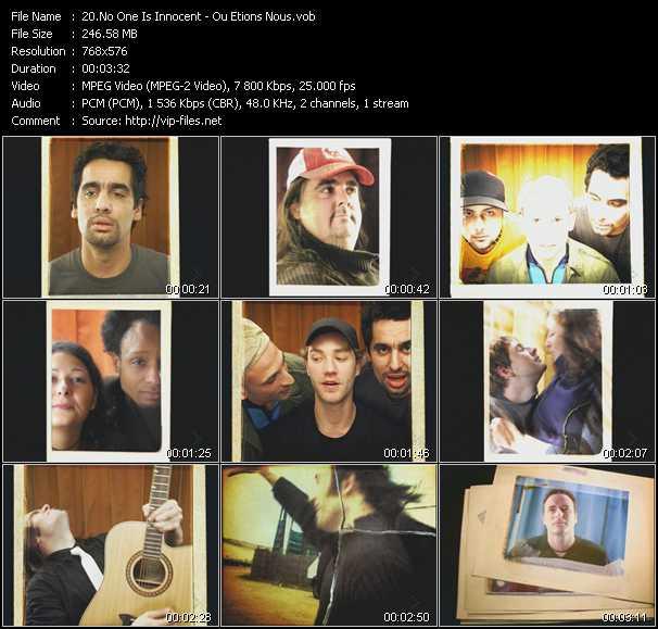 No One Is Innocent video screenshot
