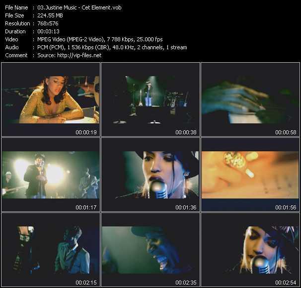 Justine Music video screenshot