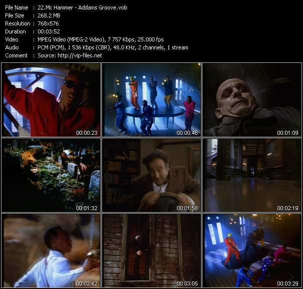 video Addams Groove screen