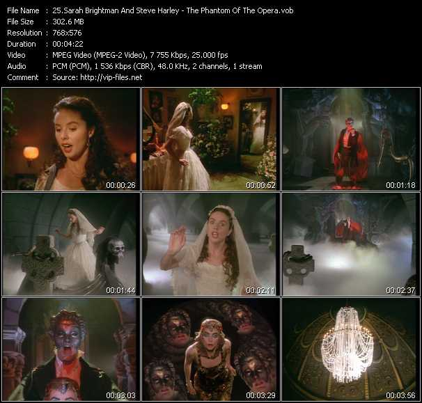 Sarah Brightman And Steve Harley video screenshot