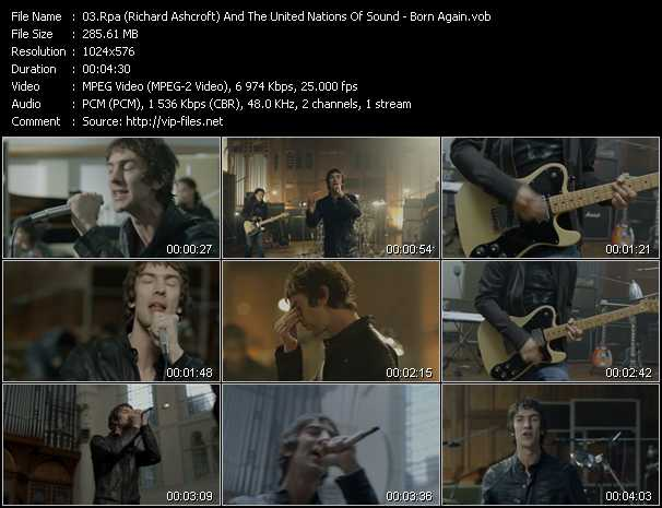 Rpa (Richard Ashcroft) And The United Nations Of Sound video screenshot