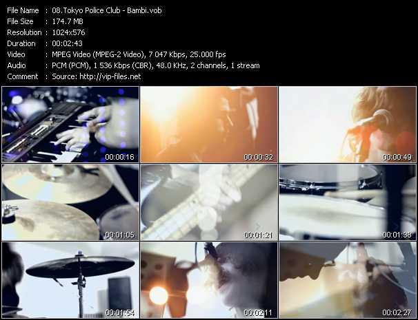 Tokyo Police Club video screenshot
