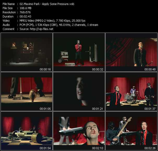 Maximo Park video screenshot