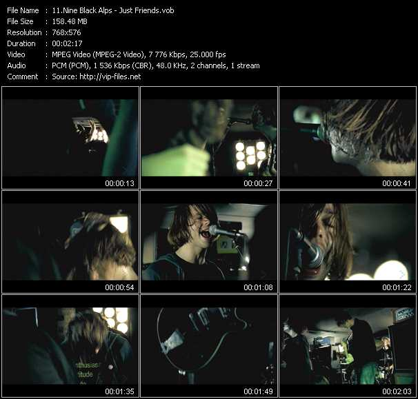 Nine Black Alps video screenshot
