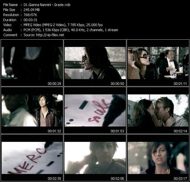 Gianna Nannini video screenshot