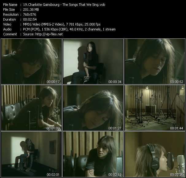 Charlotte Gainsbourg video screenshot