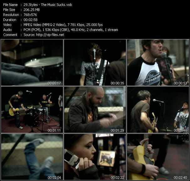 Styles video screenshot