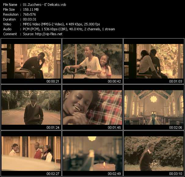 Zucchero video screenshot
