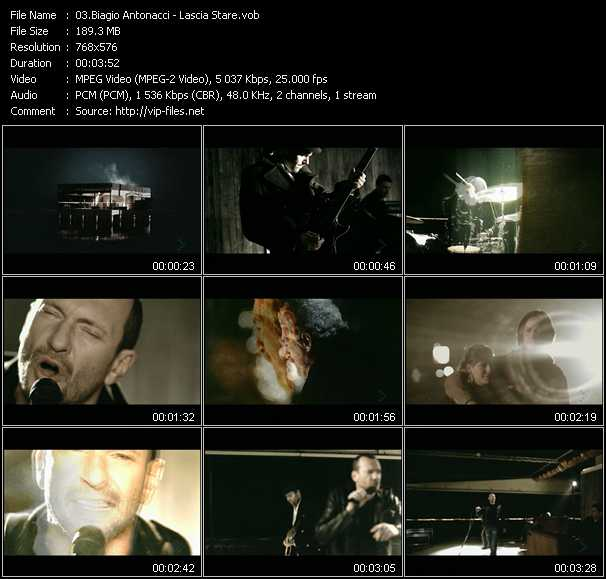 Biagio Antonacci video screenshot