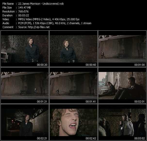 James Morrison video screenshot