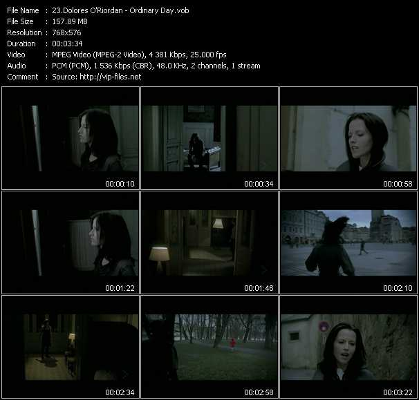 Dolores O'Riordan video screenshot