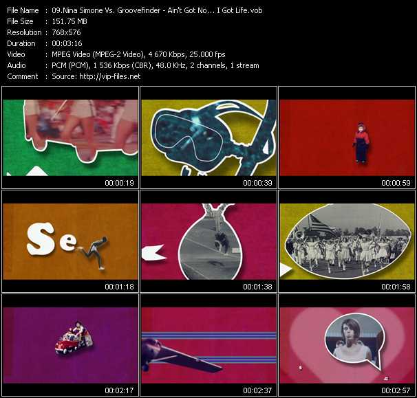 Nina Simone Vs. Groovefinder video screenshot