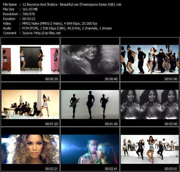 video Beautiful Liar (Freemasons Remix Edit) screen