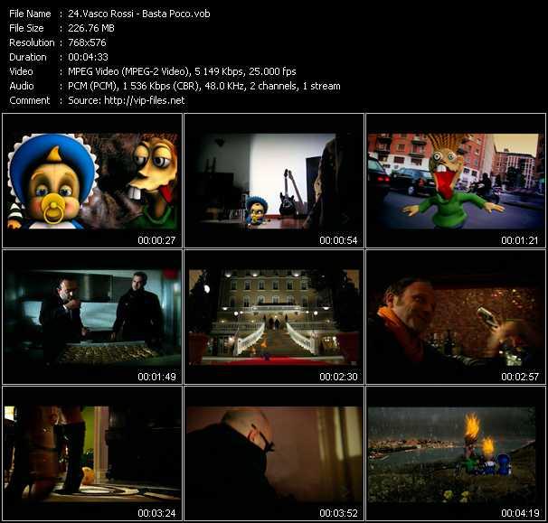 Vasco Rossi video screenshot