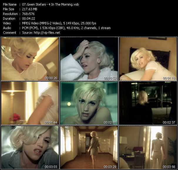 Gwen Stefani video screenshot