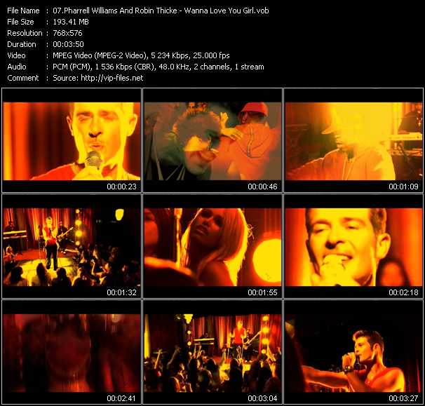video Wanna Love You Girl (Remix) screen