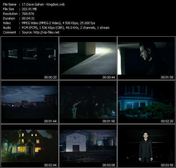 Dave Gahan video screenshot