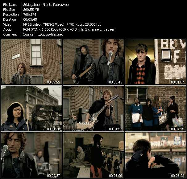 Ligabue video screenshot