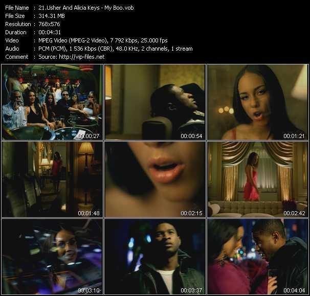 Usher And Alicia Keys video screenshot