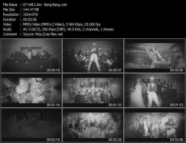 video Bang Bang screen