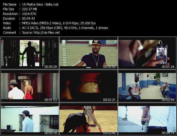 Maitre Gims video screenshot