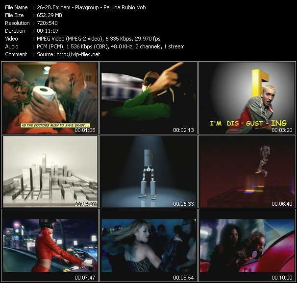 Eminem - Playgroup - Paulina Rubio video screenshot