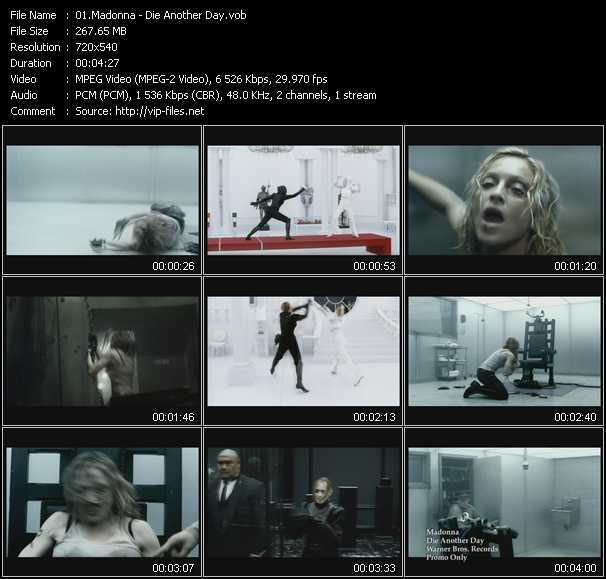 video Die Another Day screen