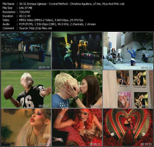 Enrique Iglesias - Crystal Method - Christina Aguilera, Lil' Kim, Mya And Pink video screenshot