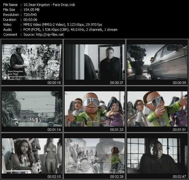 video Face Drop screen