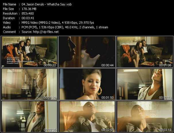 video Whatcha Say screen