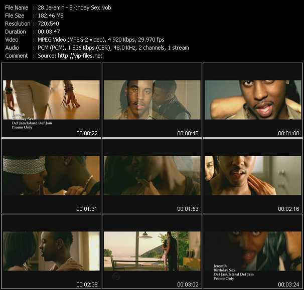 Jeremih video screenshot