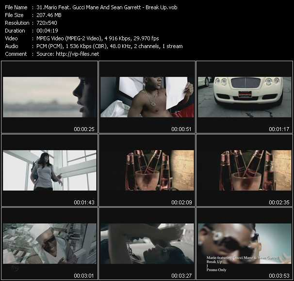 Mario Feat. Gucci Mane And Sean Garrett video screenshot