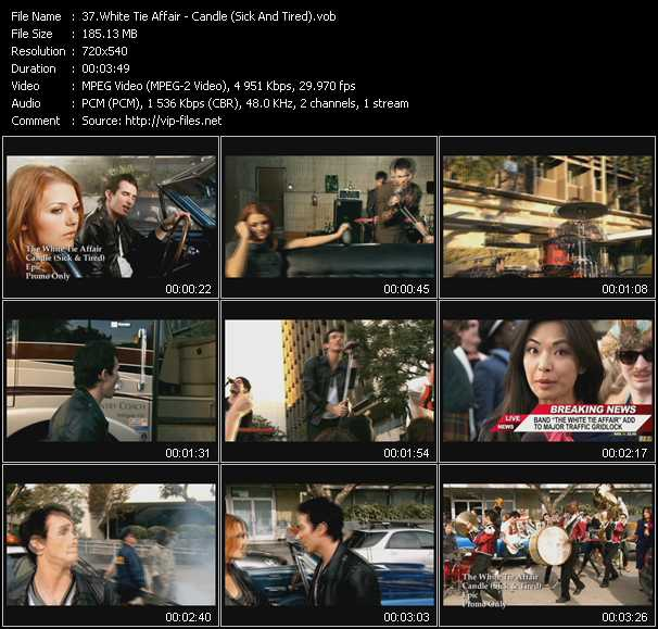 White Tie Affair video screenshot