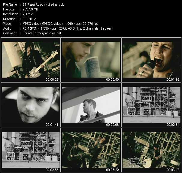 Papa Roach video screenshot