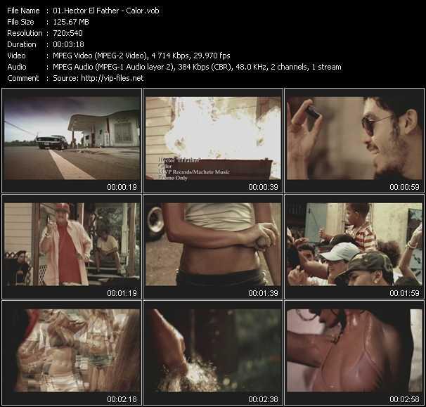 video Calor screen