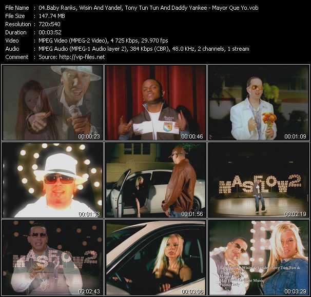 Baby Ranks, Wisin And Yandel, Tony Tun Tun And Daddy Yankee video screenshot