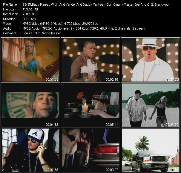 Baby Ranks, Wisin And Yandel, Tony Tun Tun And Daddy Yankee - Don Omar - Master Joe And O.G. Black video screenshot