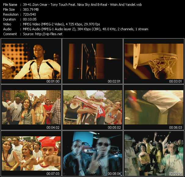 Don Omar - Tony Touch Feat. Nina Sky And B-Real - Wisin And Yandel video screenshot