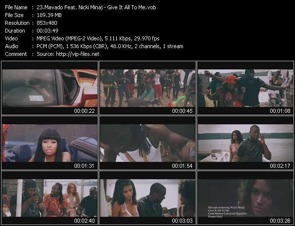 Mavado Feat. Nicki Minaj video screenshot