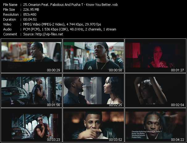 Omarion Feat. Fabolous And Pusha T video screenshot