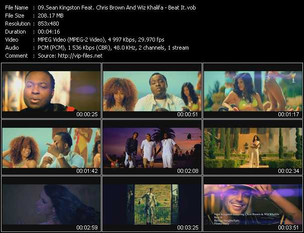 Sean Kingston Feat. Chris Brown And Wiz Khalifa video screenshot