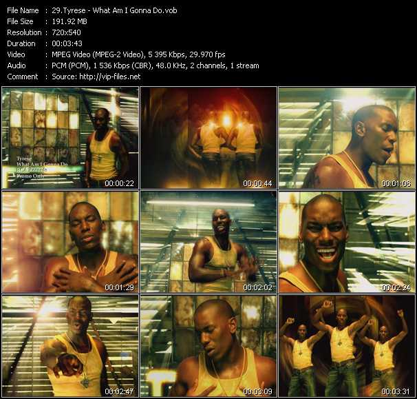 Tyrese video screenshot