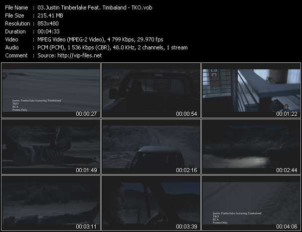 Justin Timberlake Feat. Timbaland video screenshot