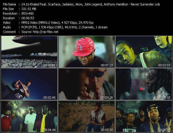 Dj Khaled Feat. Scarface, Jadakiss, Meek Mill, Akon, John Legend, Anthony Hamilton video screenshot